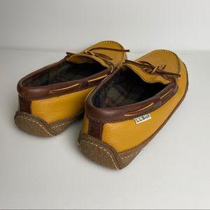L.L. Bean Shoes - L. L. Bean Leather Hand-sewn Slippers Size 9M